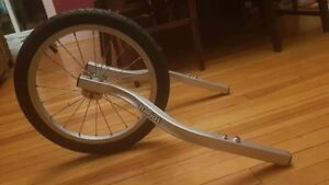 Chariot front jogging wheel