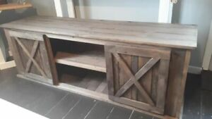 RUSTIC TV STAND 60""