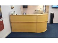 Beech modular reception desk
