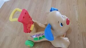 Fisher Price Stride to ride walker puppy - English