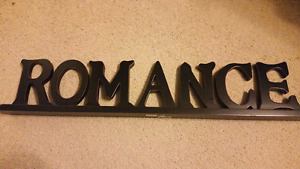 Wooden Romance sign