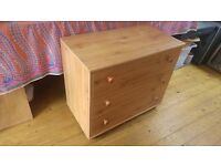 Set of 3 wooden drawers