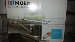 brand new/ never opened kitchen faucet Moen 87425 Manor Chrome