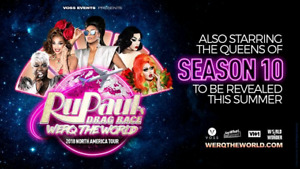 2 Tickets for RuPauls Drag Race Werq the World Show TONIGHT!