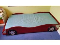 Car bed frame with mattress