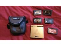 Rare Gold Zelda Gameboy Advance SP and 5 games with small carrying case