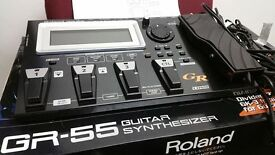Roland GR-55 Guitar Synthesizer + GK-3 Pickup
