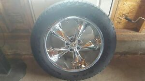 "18 & 20 inch foose wheels - 4.75 chev pattern, 5"" back offset"