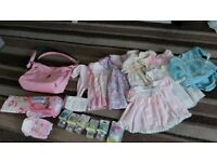 BABY CHANGING BAG AND ACCESSORIES PLUS GIRLS DRESSES