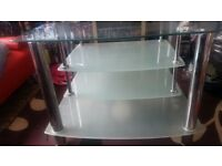 Large Heavy glass TV Stand/ Table