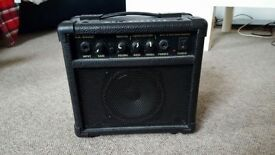 B.B. Blaster 10 Watt Guitar Home Amplifier & Guitar 6.35mm jack-jack lead