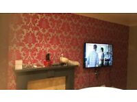 Experienced team : painting and decorating,tiling,wallpapering