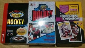 93-95 YEAR HOCKEY CARDS, 3 BOXES $20 OBO
