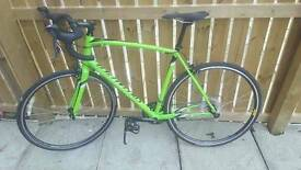 Specialized top spec green road bike