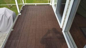 """16""""x16"""" two sided rubber pavers 1/2"""" thick"""
