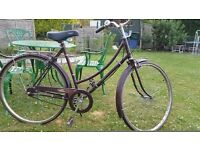 Vintage ladies town bike