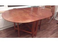 Old Drop Leaf Dining Table