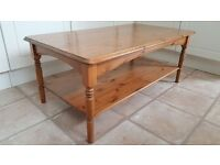 SOLID PINE COFFEE TABLE - V.G.COND. - £20