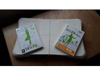 Wii fit board with two games.