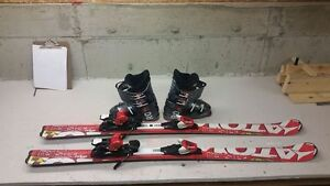 Atomic Redster Edge 140CM skis & Rossi Comp J4 boots