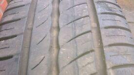 Renault Clio alloy wheels, 2 almost new Pirelli Tyres Includes Renault centre caps average condition