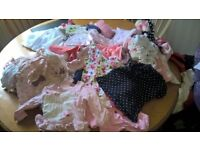 Huge bundle of baby girls clothes. 0-6 months