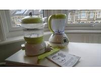 Babymoov nutribaby- multifunction baby food processor- steamer, blender and steriliser