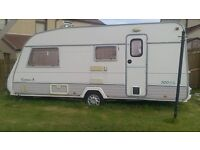 Europa eccosse 4 berth caravan with full size awning!