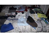 Job lot of baby items inc cot bed, high chair, safety gates, fire guard, clothes, curtains, etc
