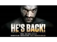 Tyson Fury Tickets x8 - Manchester Arena - 9th June