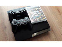 PS3 (160gb), 2 controllers, and GTA 5