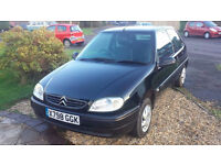 Citroen Saxo 1.1, Black, manual, Mot until December 17th 2017 75000 miles