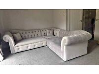 BRANDED NEW HIGH QUALITY BUTTERFLY CHESTERFIELD CORNER SOFA OR 3+2 SOFA AVAILABLE NOW