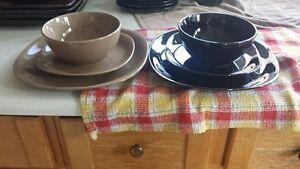 Black and Beige dishes Kitchener / Waterloo Kitchener Area image 2