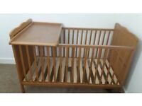 cotbed with baby changer