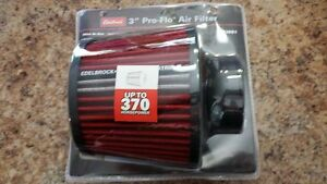 "Edelbrock Conical Air Filter Gauze Red 3.0"" qty Local pickup"