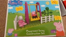 Peppa pig construction toy set