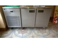 Catering, stainless steel counter style fridge cooler