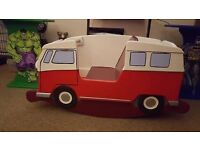 Custom made one off heavy wooden VW Camper rocking chair, suitable for kids.