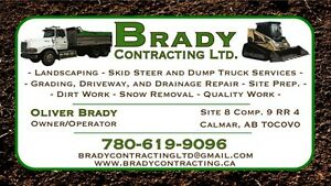 Leduc and Area Landscaping Dump Truck and Skid Steer Services