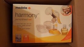 Brand New Boxed and Sealed Medela Harmony Pump and Feed set