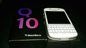 In mint condition unlocked white or black Blackberry Q10