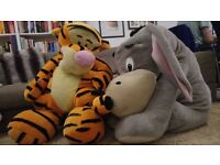 Giant Winnie the Pooh chatacters -Tigger and Eeyore- soft toys