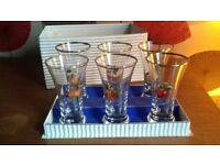 Vintage fruit glasses