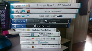 Assorted 3DS, Wii U and PS4 games [READ DESCRIPTION]