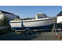 Orkney 522 - 17 foot boat with outboard excellent condition £15000 or VNO