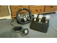 Logitech G920 racing wheel for xbox1 and pc