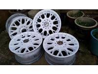 4 x Genuine BBS Alloy Wheels In Satin White