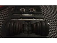 20kg cast iron dumbbell weights set