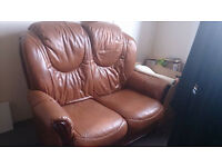 Leather sofa 2 seater